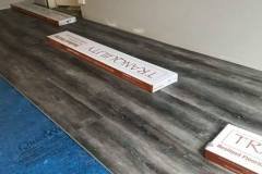 Laying wood look laminate flooring