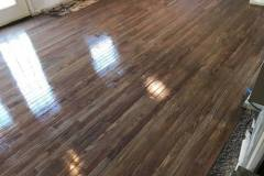 Laying hardwood flooring