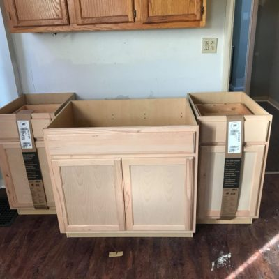 KITCHEN RENOVATION IN PROGRESS - NEW CABINETS READY TO BE SET