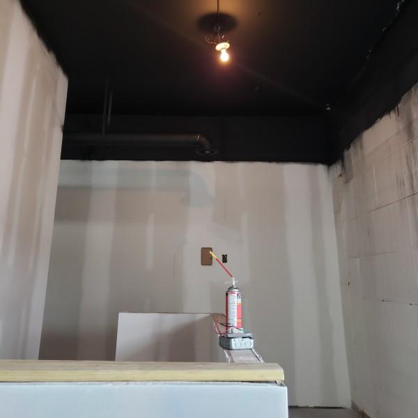 Ceiling Being Painted Black