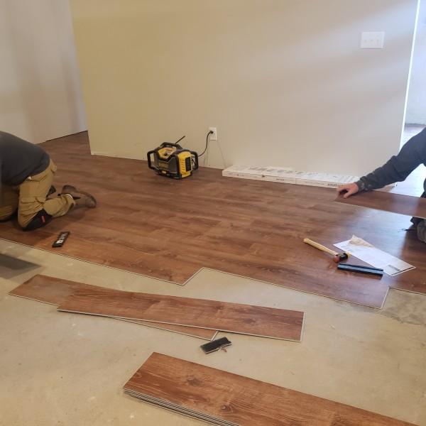 Vinyl Plank Flooring being Laid